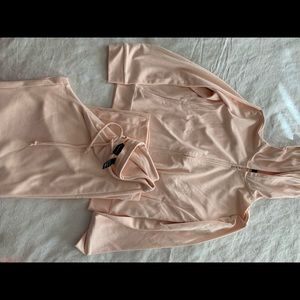 New York & company sweat pants and sweater set L